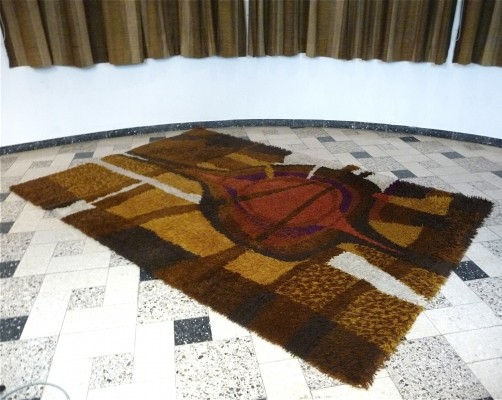 Abstract Modernist Rug from the sixties by unknown designer for Ege Rya