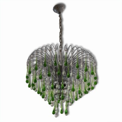 Hanging lamp from the fifties by unknown designer for Murano