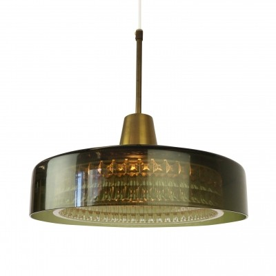 Scandinavian glass pendant lamp from the sixties by Carl Fagerlund for Orrefors