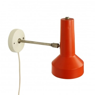 Dutch wall light from the sixties in orange & white