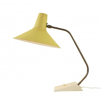 Yellow Anvia desk light from the fifties