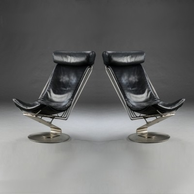 Set of 2 Interdane lounge chairs from the nineties by unknown designer for Trio Line