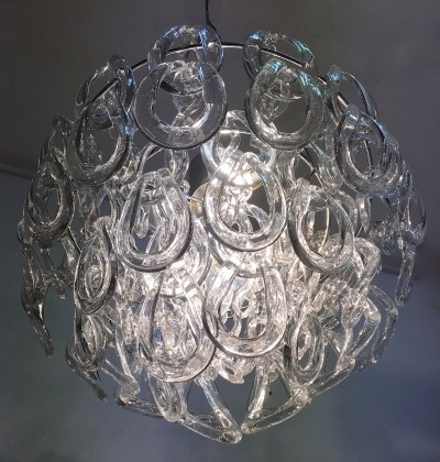 Hanging lamp from the sixties by Angelo Mangiarotti for Vistosi