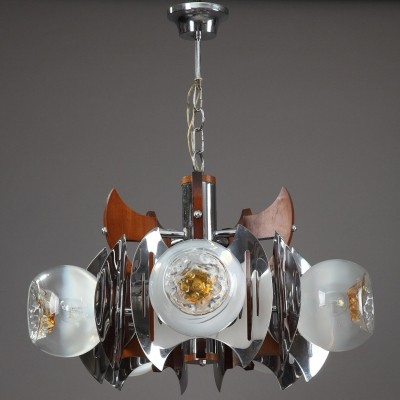 Hanging lamp from the seventies by unknown designer for Mazzega