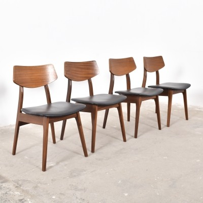 4 dinner chairs from the fifties by unknown designer for Topform