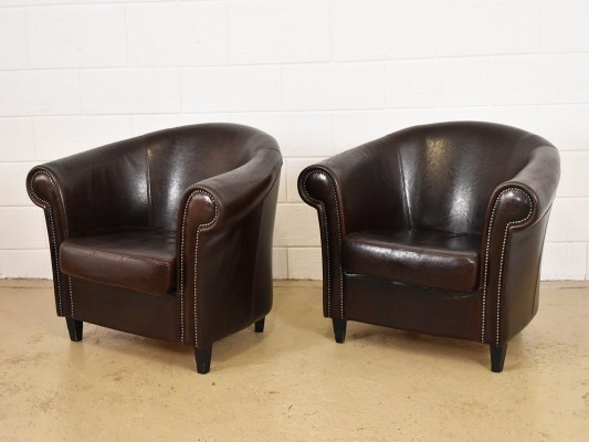 2 lounge chairs from the eighties by unknown designer for unknown producer