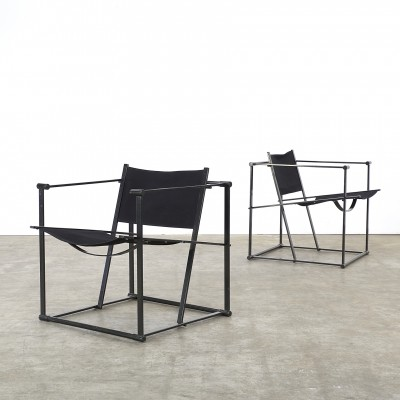 Set of 2 FM60 arm chairs from the eighties by Radboud van Beekum for Pastoe