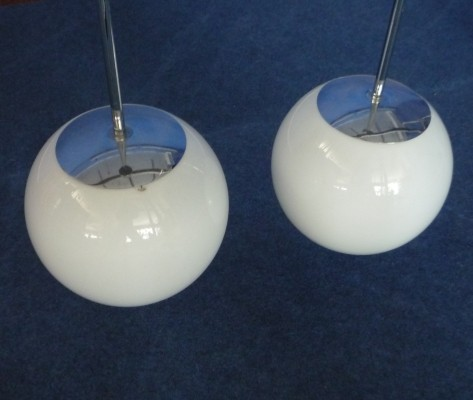 Set of 2 hanging lamps from the sixties by unknown designer for Peill & Pützler
