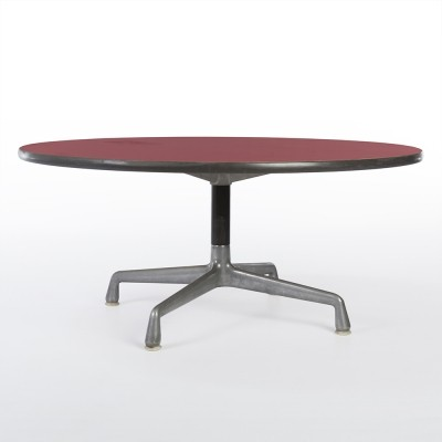 Red Aniline Dyed Rare Contract coffee table from the sixties by Charles & Ray Eames for Herman Miller