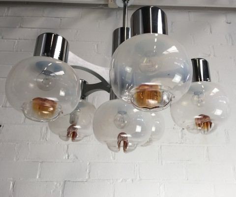 Hanging lamp from the seventies by unknown designer for AV Mazzega