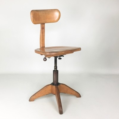 Stoll Giroflex office chair, 1920s