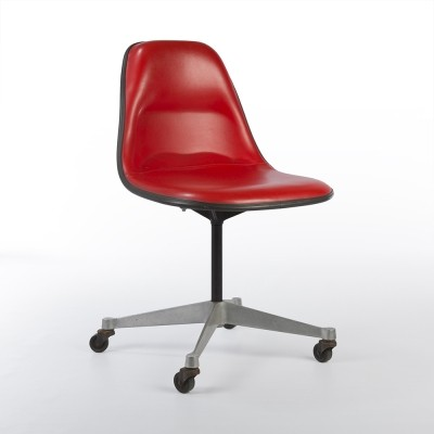 Side Shell on Contract Base office chair from the seventies by Charles & Ray Eames & Alexander Girard for Herman Miller