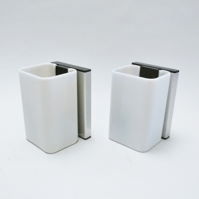 Set of 2 Saori wall lamps from the seventies by unknown designer for Allibert
