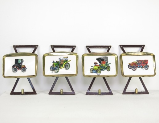 Set of 4 coat racks from the sixties by unknown designer for unknown producer