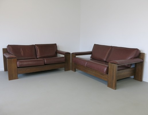 2 no. 757 sofas from the sixties by Harry J M De Groot for Leolux