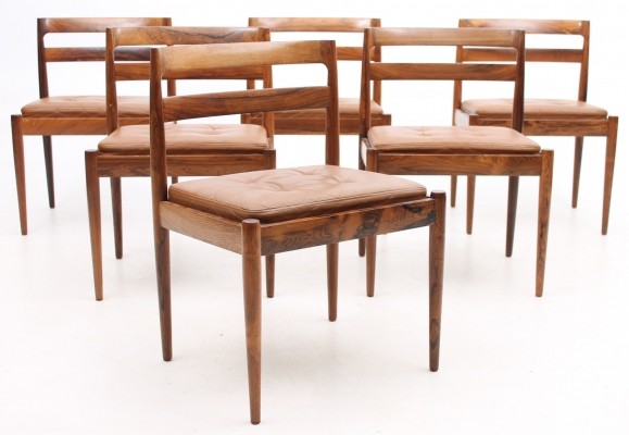 6 dinner chairs from the seventies by unknown designer for Heltborg møbler