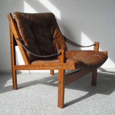 Hunter lounge chair from the fifties by Torbjørn Afdal for Bruksbo Norway