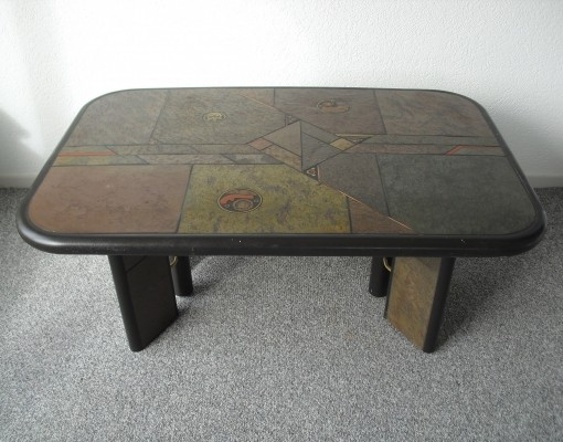 Coffee table from the eighties by Paul Kingma for Kingma