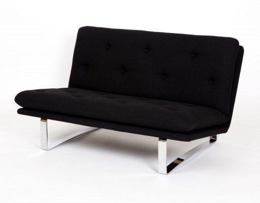 Black fabric C683 Artifort sofa by Kho Liang Ie