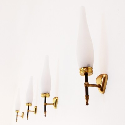 Set of 4 wall lamps from the fifties by unknown designer for unknown producer