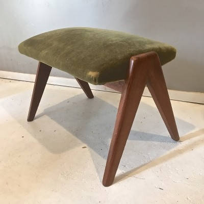 Hocker from the sixties by unknown designer for unknown producer