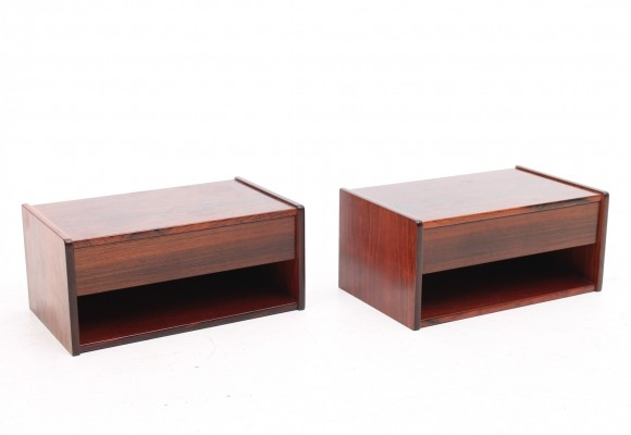 Set of 2 Bed side table wall units from the sixties by unknown designer for unknown producer