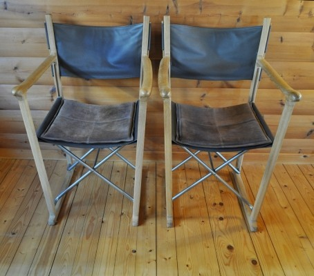Set of 2 Classic arm chairs from the nineties by unknown designer for Skagerak