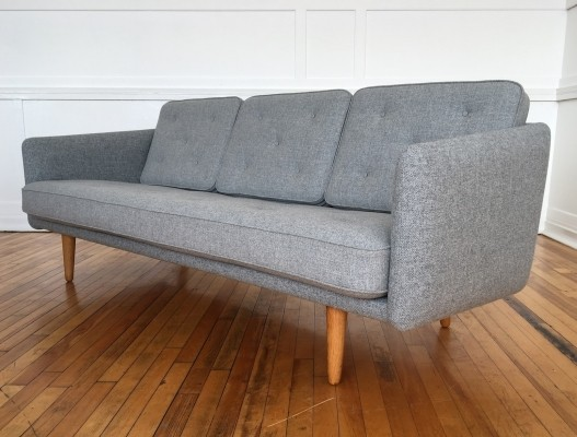 Mid Century Rare Original Danish No. 1 Sofa by Borge Mogensen for Fredericia Stolefabrik in Kvadrat Wool