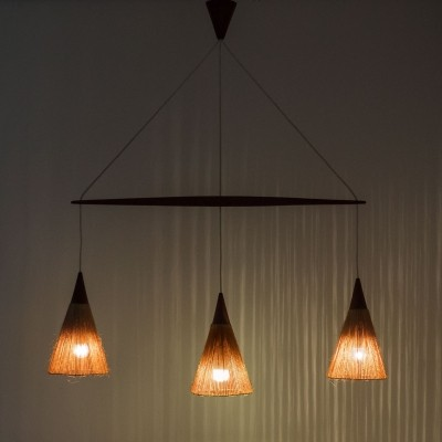 Hanging lamp from the fifties by unknown designer for Temde Leuchten