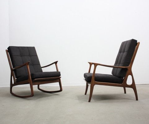 Set of 2 arm chairs from the fifties by unknown designer for Olimpio Viganò