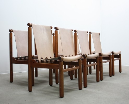 Set of 8 dinner chairs from the fifties by Ilmari Tapiovaara for La Permanente Mobili Cantù