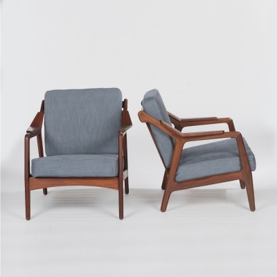 Set of 2 lounge chairs from the fifties by H. Brockmann Petersen for Randers Mobelfabric Denmark