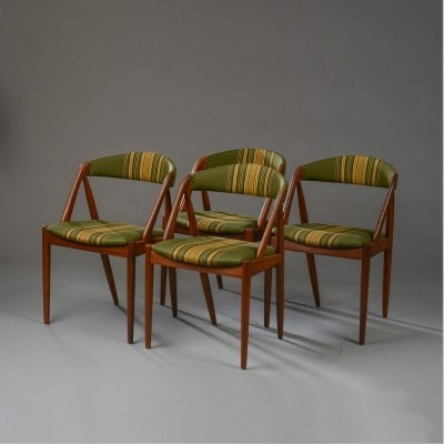Set of 4 Model 31 dinner chairs from the fifties by Kai Kristiansen for Shou Andersen Denmark