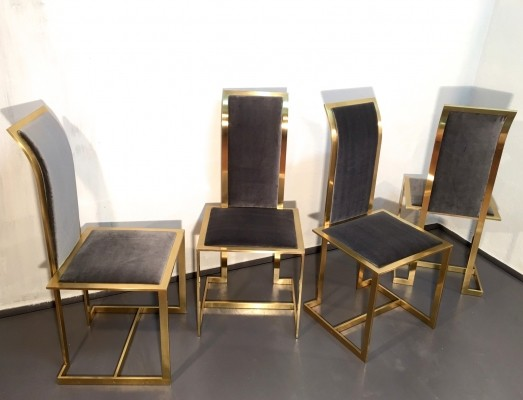 Set of 4 dinner chairs from the seventies by Romeo Rega for unknown producer