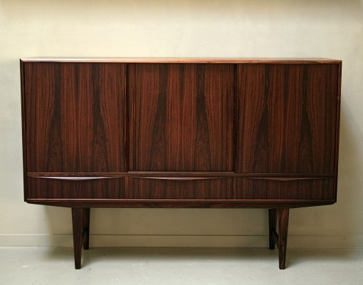 Palisander cabinet by EW Bach, 1950s
