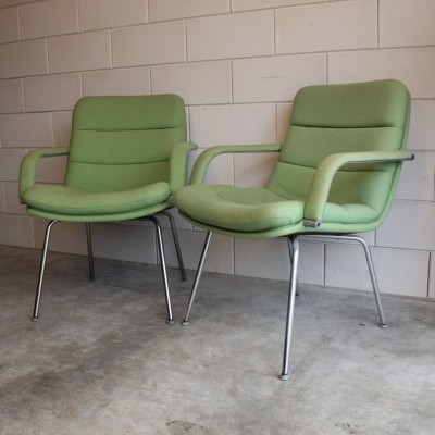 2 System serie dinner chairs from the sixties by Geoffrey Harcourt for Artifort
