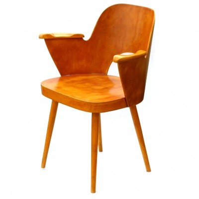 Model 1515 dinner chair by Oswald Haerdtl for Ton Czechoslovakia, 1960s