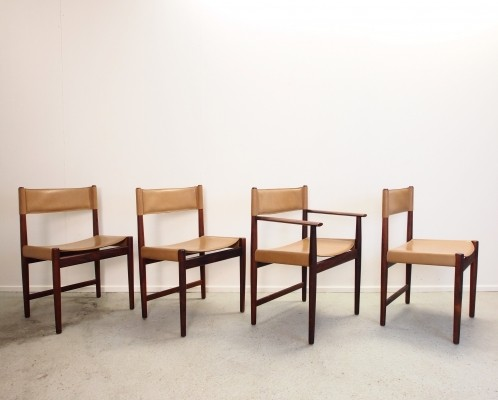 Set of 4 dining chairs by Kurt Østervig for Sibast, 1950s