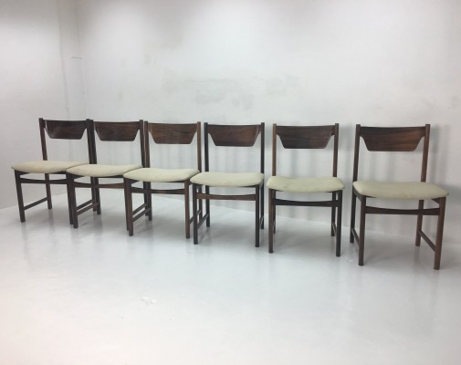 Set of 6 vintage dining chairs, 1950s