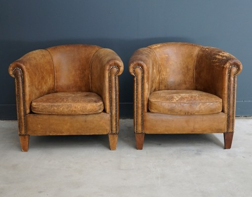 Pair of vintage arm chairs, 1980s