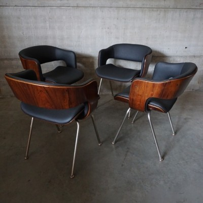 Set of 4 Arflex dinner chairs, 1960s