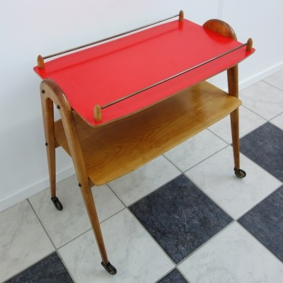 Opal serving trolley, 1950s
