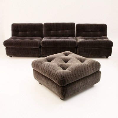 Set of 4 Amanda lounge chairs from the sixties by Mario Bellini for B & B Italia