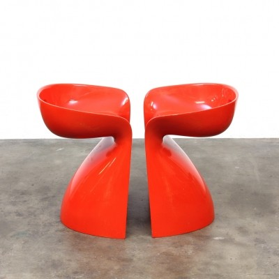 Set of 2 Form+Life Collection stools from the sixties by Winifred Staeb for Reuter Produkt