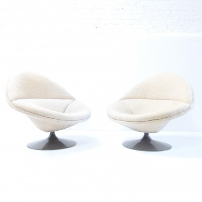 Set of 2 F422 lounge chairs from the fifties by Pierre Paulin for Artifort