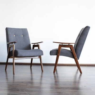 Set of 2 arm chairs from the fifties by unknown designer for Ton Czechoslovakia