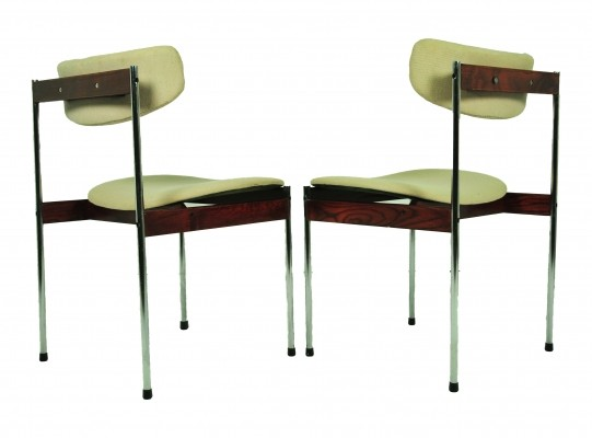 Set of 2 dinner chairs from the sixties by unknown designer for Thereca