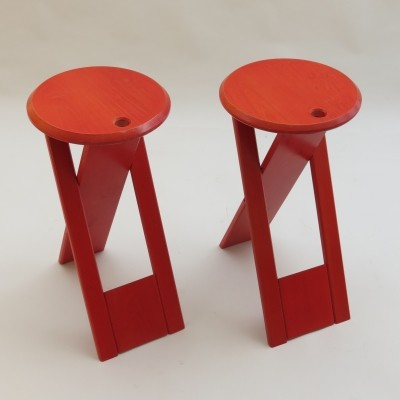 Set of 2 Suzy stools from the seventies by unknown designer for unknown producer