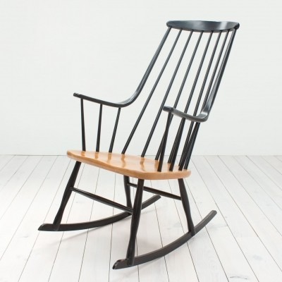 Bohem 2402 rocking chair from the fifties by Lena Larsson for Nesto