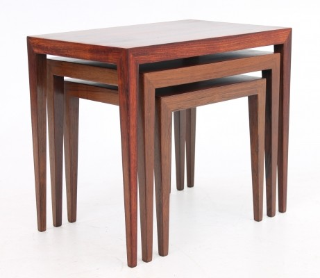 Nesting table from the sixties by Severin Hansen for Haslev Møbelsnedskeri